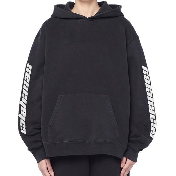 yeezy calabasas hoodie black